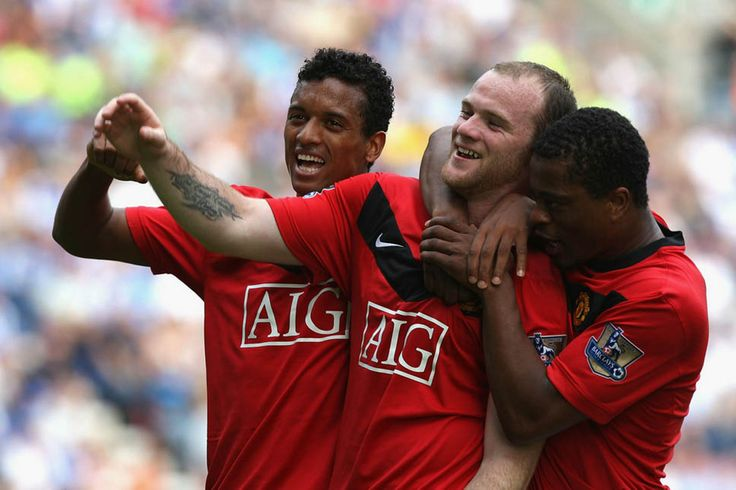 2009: Wayne Rooney celebrates his 100th goal for Manchester United