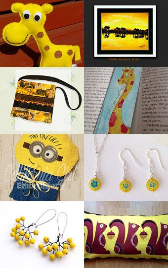 Sunny yellows by KTJewelleryCreations on Etsy--Pinned with TreasuryPin.com