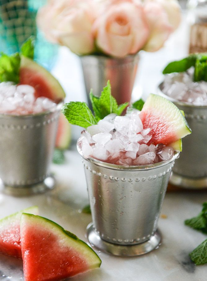 10 Mint Julep Recipes You Need to Try | Fresh Watermelon Mint Julep. You guys, this is the perfect summer cocktail. Mouth. Watering.