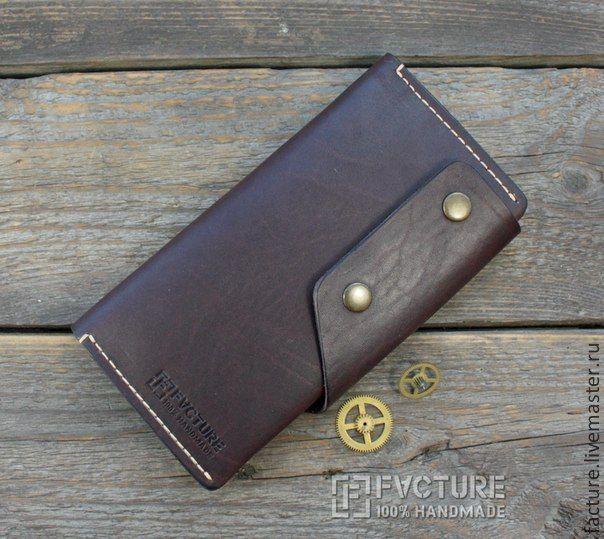 Купить Портмоне из натуральной кожи TR 006 - коричневый, портмоне, портмоне из кожи, портмоне мужское