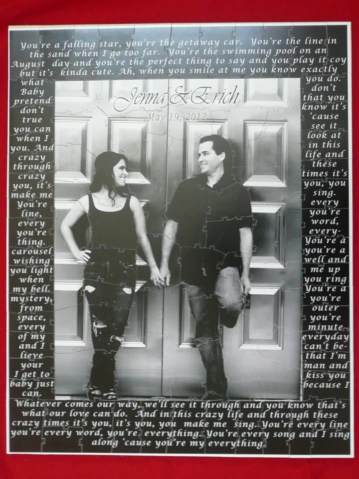 Lyric puzzle pieces lyrics : 15 best Guest Book Alternatives images on Pinterest | Guest book ...