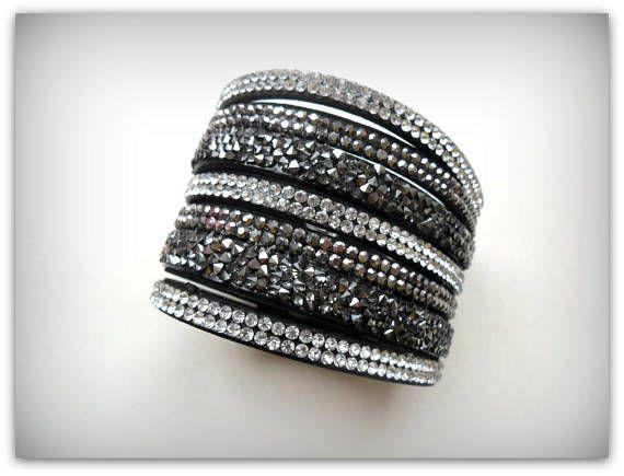 Black Diamante Strap Diamante Strap Bracelet Diamante Band