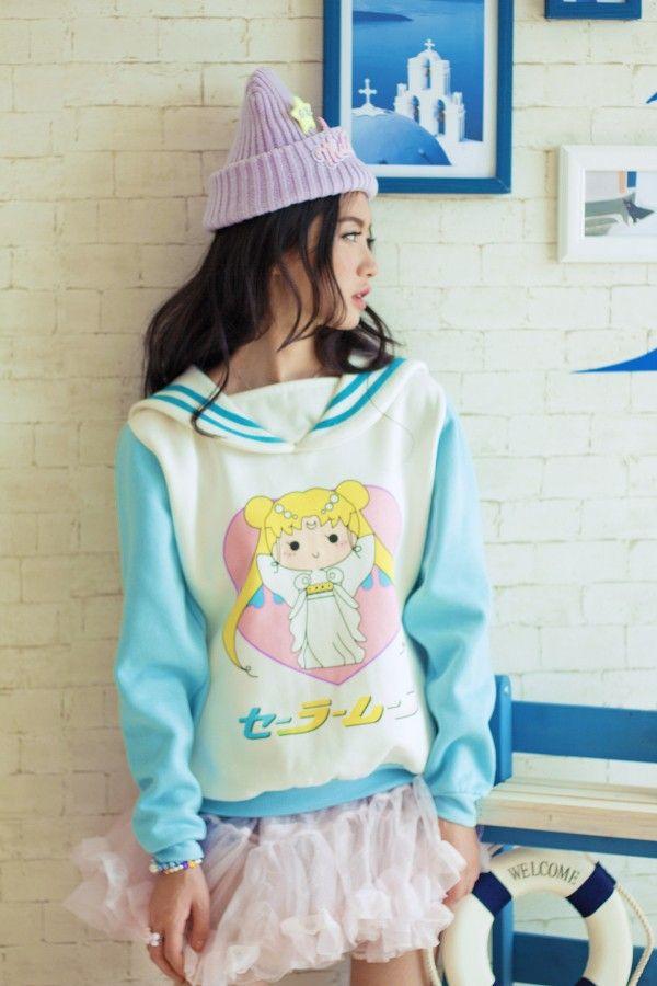 ShopTokimo | Sailor Moon Print Sweatshirt [Ver. 2] | Online Store Powered by Storenvy