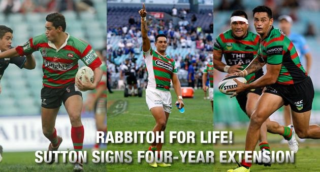 Rabbitohs Re-sign John Sutton for Life