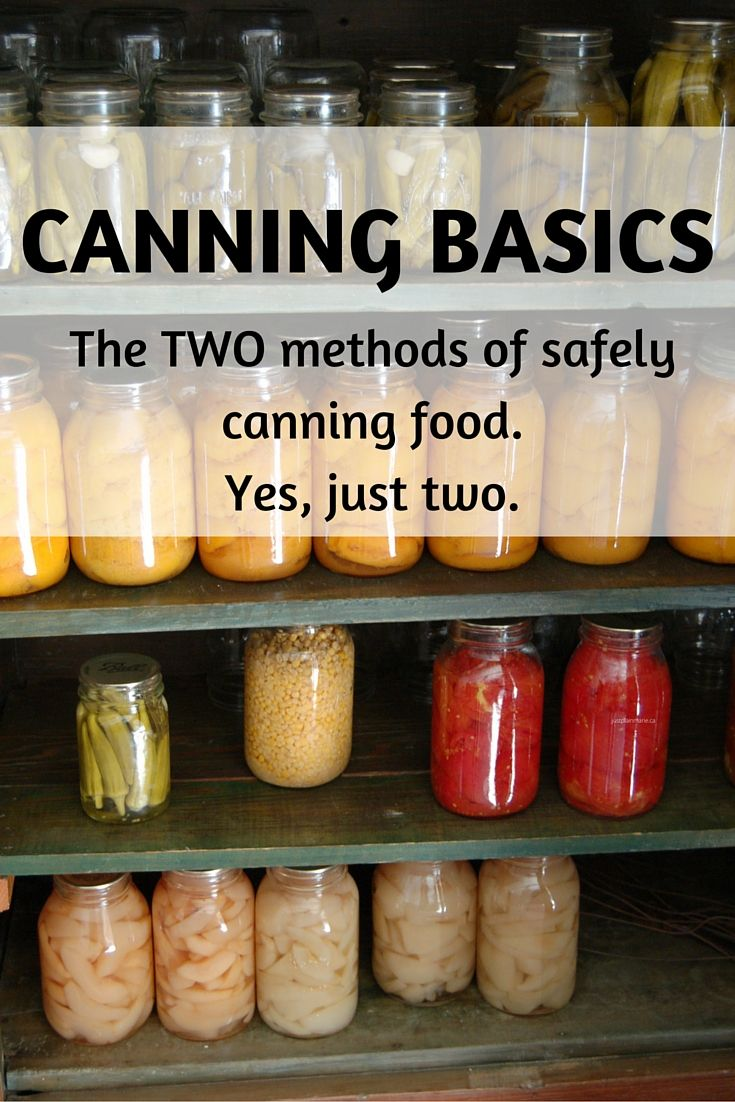Yes, there are only two safe methods for canning (jarring) food at home.