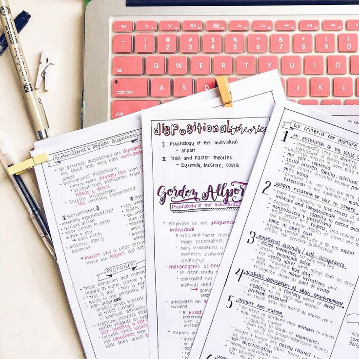 kimching232: 9/100 Days of Productivity Theories of Personality notes #studyblr…