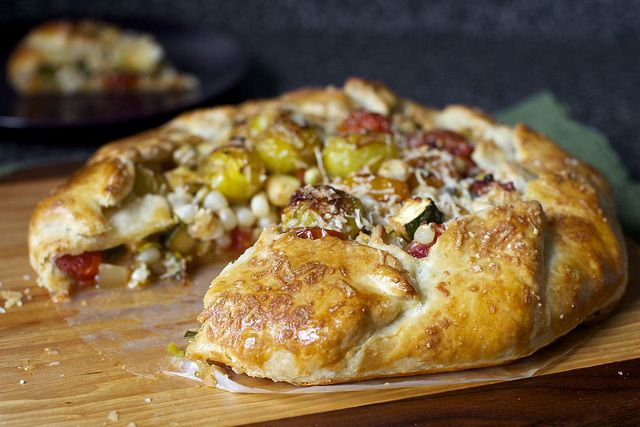 tomato, corn and zucchini galette by smitten, via Flickr