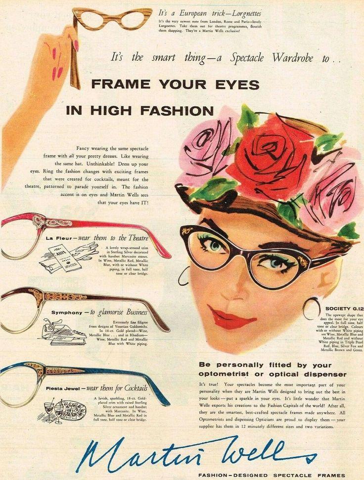 Martin Wells 1957 Vintage Eyewear Eyewear Advertising Vintage