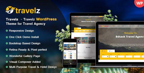 Wordpress Travelz - Travel WordPress Theme for Tour Agency