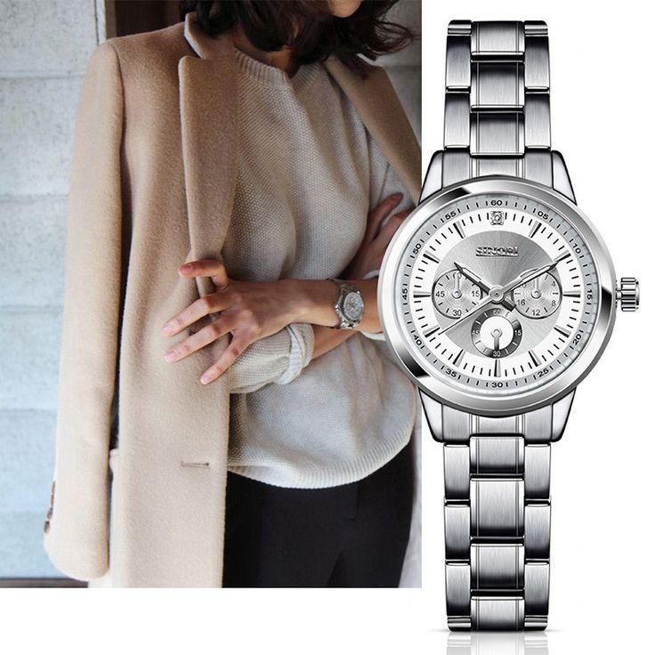 SINOBI Relogio Luxury Women'S Casual Watches Waterproof Watch Women Fashion Dress Business Watch 2017 Relojes Mujer F43