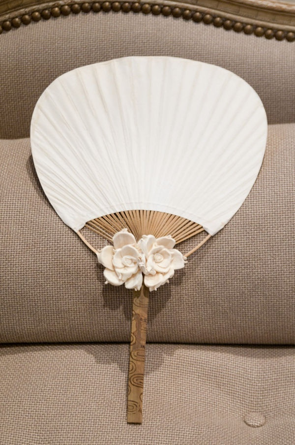Just loving this paddle fan for any wedding or event. Find them for sale at splendorforyourguests.com! Splendor for Your Guests   Rental Company   Weddings   Events   Shawls   Blankets   Umbrellas   Parasols   Fans