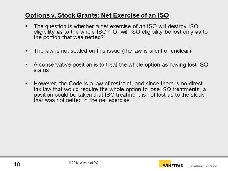 Irs exercise of stock options worksheet