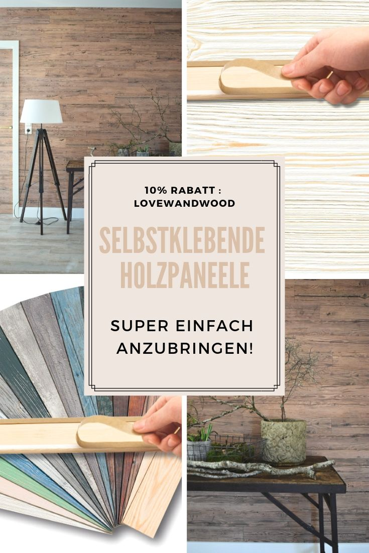 Dekoidee Wand Holzverkleidung Fur Die Wand Mit Selbstklebenden Paneelen Einfach Kleben Holzwand Verkle Holzverkleidung Wandpaneele Holz Wandverkleidung Holz