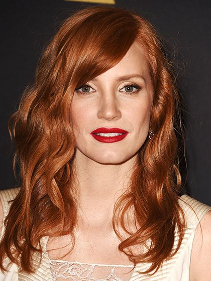 beauty rules - red hair, red lips - Jessica Chastain