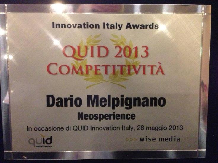 Dario Melpignano - #Neosperience CEO - wins #Innovation Italy #Awards #2013 ! :D