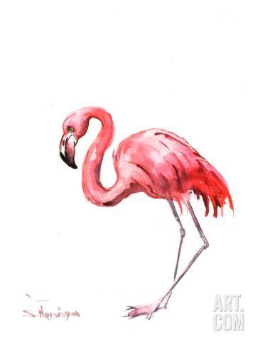 Flamingo Pink Art Print by Suren Nersisyan at Art.com