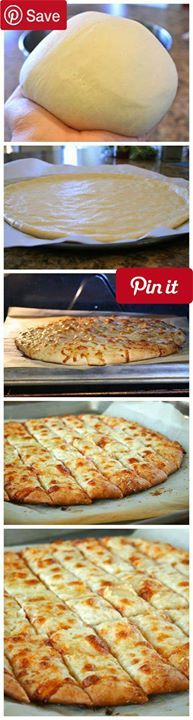 Fail-Proof Pizza Dough and Cheesy Garlic Bread Sticks Produce 2 cloves Garlic Condiments 1 tbsp Honey Baking & Spices 2  tsp Active dry yeast 3 cups Bread flour  Recipe fail-proof pizza dough from above 2 tsp Salt 1 Salt & pepper Oils & Vinegars 2 tbsp Olive or canola oil Dairy 2 tbsp Butter salted  lb Mozzarella cheese grated  cup Parmesan cheese grated Liquids 1 cup Water #delicious #diy #Easy #food #love #recipe #tutorial #yummy Make sure to follow cause we post alot of food recipes and…