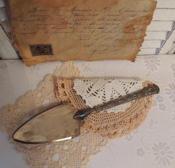 Vintage Plated Cake Server Home Vintage Decor Ornaments