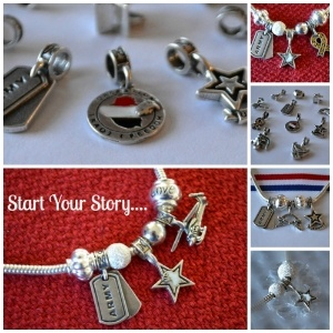 Beautiful charms to tell your story of Military life. This makes me want to  make one and give to our kids one day, and reminds me of the one my grandma still has
