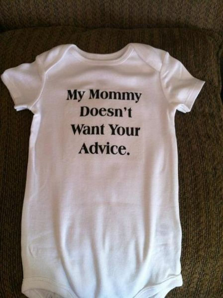 Dang! I wish I had this when my kids were babies! My family (both sides)....that is all they did was tell me what I should be doing!