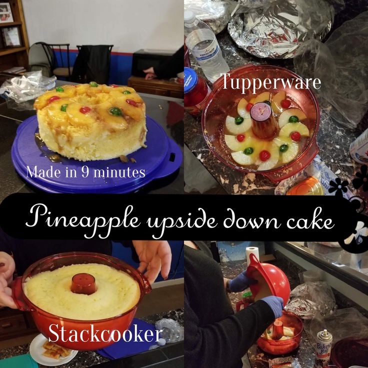 Make a cake under ten minutes in the #Stackcooker #tupperware #christmas #cake
