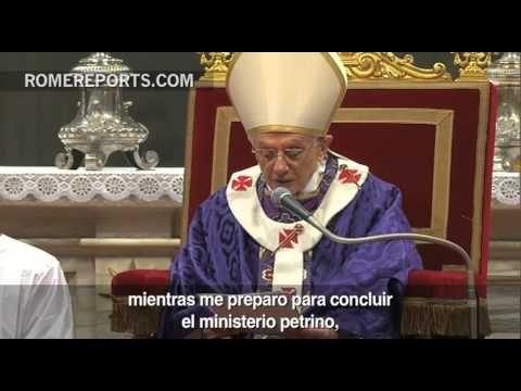 Miércoles de Ceniza: El Papa agradece cariño y pide que recen por el futuro de la Iglesia