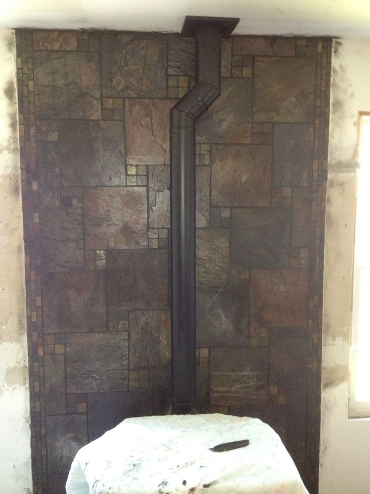 Pellet Stove Hearth Fun Tile Pattern Kylie Ike S House