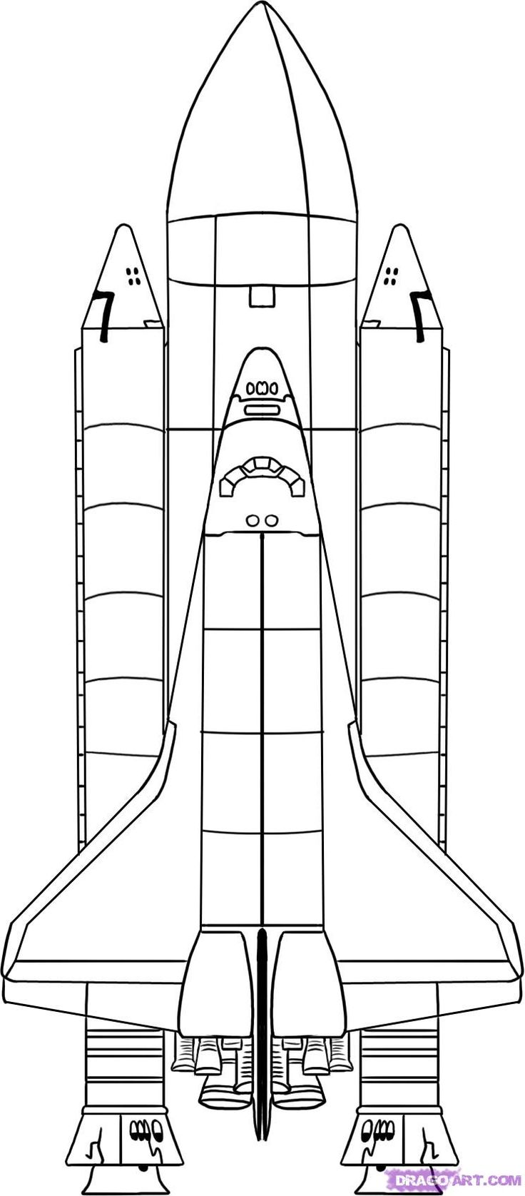 space shuttle - links to a great space shuttle art project page