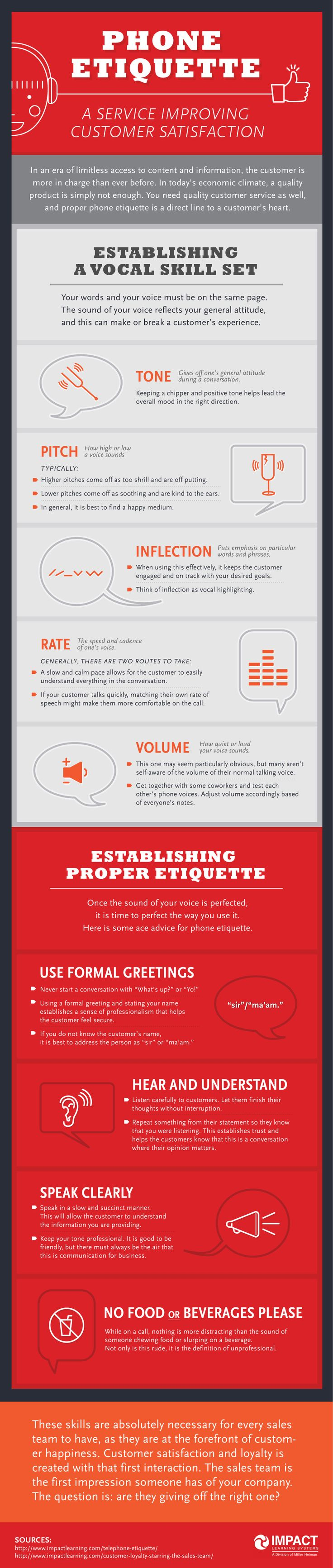 Infographic: Phone Etiquette to Improve Customer Service