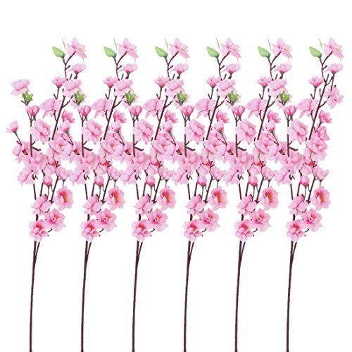 TOOGOO(R) 6 Mazzi di fiori di pesco artificiali con 3 steli forcella per l'ufficio decorazione domestica Rosa, http://www.amazon.it/dp/B00UFN6PAG/ref=cm_sw_r_pi_awdl_xs_ixt6ybQ3CMXND