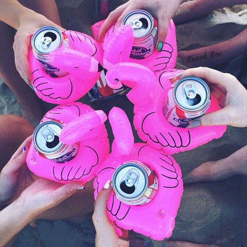 Cute Flamingo Floating Inflatable Drink Coke Can Cup Holder Pool Bath Beach in Garden & Patio, Swimming Pools & Hot Tubs, Pool Fun   eBay