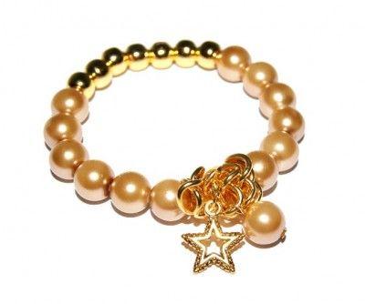 Bransoletka Perłowa z Gwiazdką II #bracelet #bransoletka