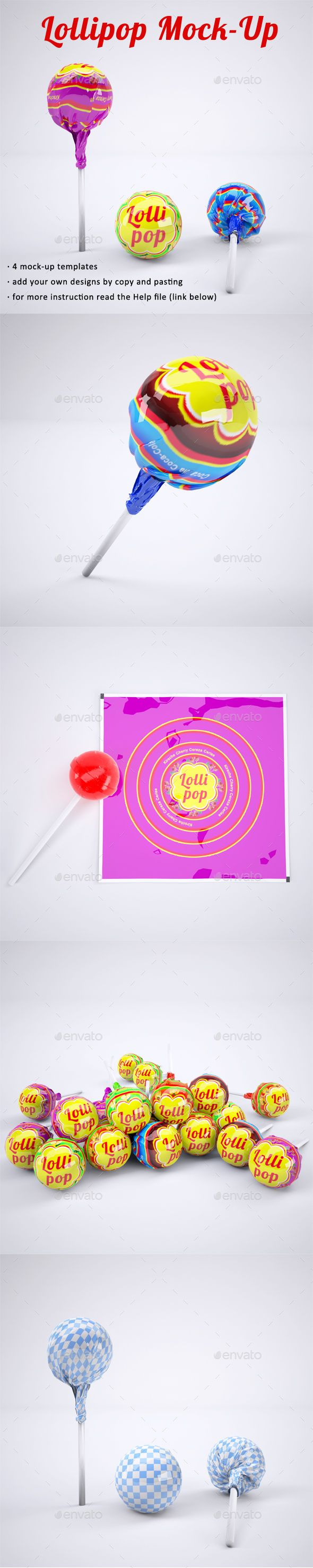 Lollipop MockUp — Photoshop PSD #lolly #promotional lollipops • Available here ➝ https://graphicriver.net/item/lollipop-mockup/20972089?ref=pxcr