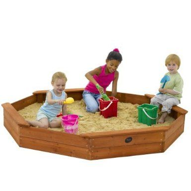 Plum Giant Octagonal Outdoor Play Wooden Sand Pit: Amazon.co.uk: Toys & Games