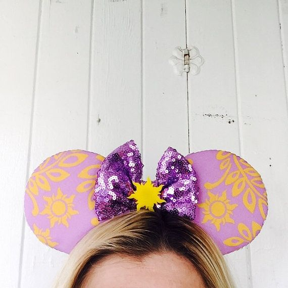Rapunzel Ears, Rapunzel Tangled Ears, Tangled Mickey Ears, Rapunzel Mickey Ears, Ready to Ship Disney Inspired Ears, Rapunzel Minnie Ears Be a