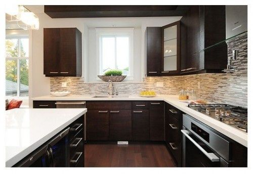 Light Colored Granite Countertops With White Cabinets : dark cabinets light granite RE: What color granite with dark ...