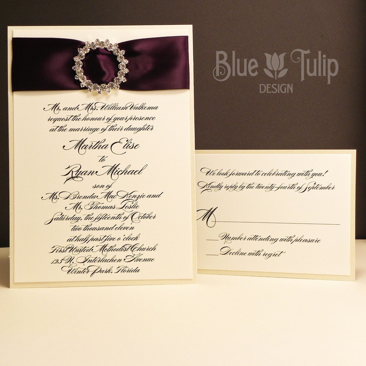 wedding invitations east london south africa%0A Iced Plum Wedding Invitation