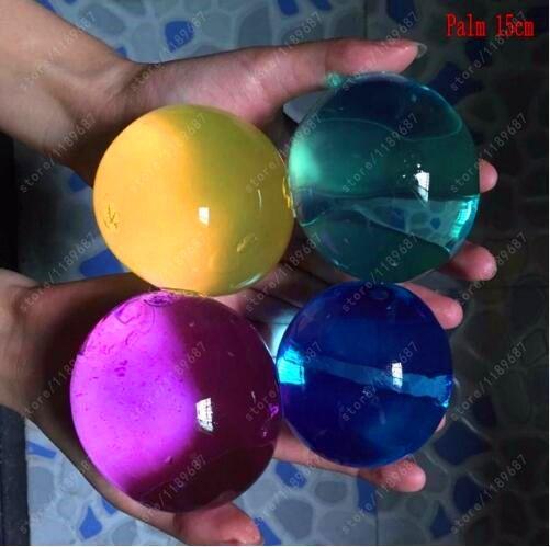 10ピース/ロット真珠形状13-16ミリメートルクリスタル土壌泥育っ魔法ゼリーボール結婚式ホームデコレーションヒドロゲル水ビーズ