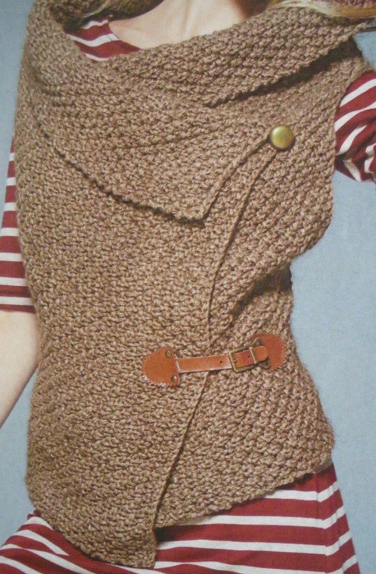 Relasè: Come fare un coprispalle asimmetrico a maglia - passo dopo passo