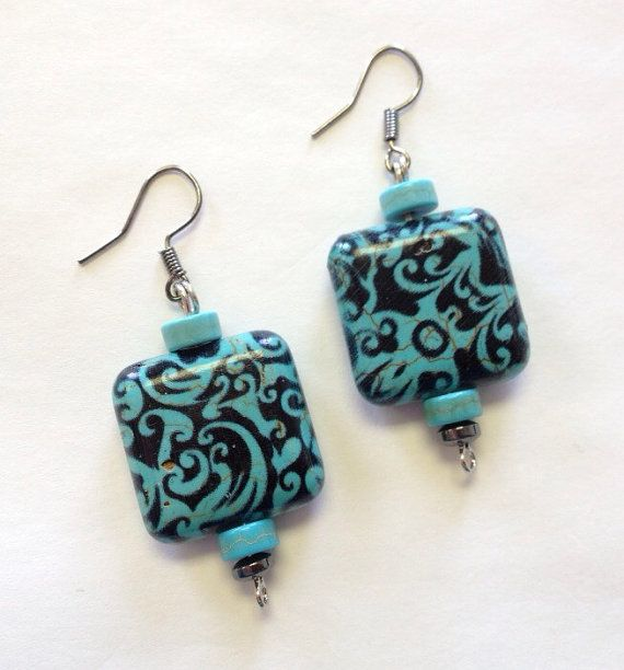 Victorian Turquoise Earrings Jewelry Earings by StarBoundWestern