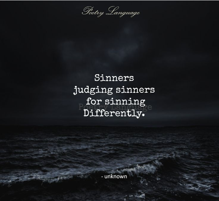 Image result for sinners judging sinners for sinning differently