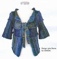 Flot jakke designet af Jytte Slente og strikket i et eksklusivt nyt garnmix fra ONION