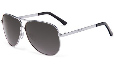 Estrada - Wireframe Sunglass  - Matte Silver Frame / Grey Gradient Lens