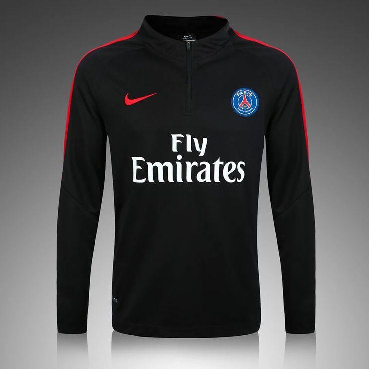 PSG 2016/17 Black Long Sleeve Training Top 1