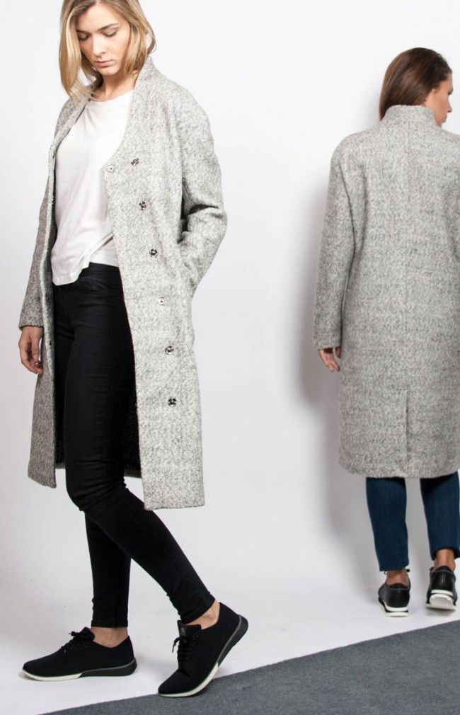 CELINE COAT - #anglestore #look #simple #grey