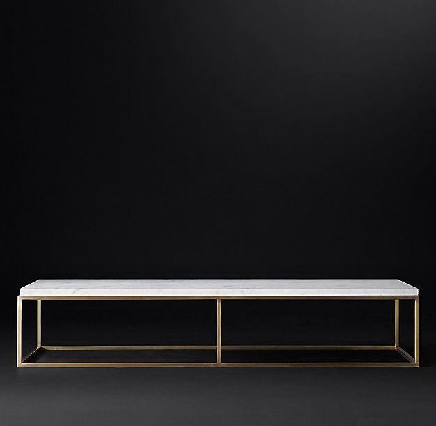Lift Top Coffee Table Art Van: RH MODERN-Nicholas Marble Rectangular Coffee Table $1946