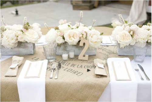 Burlap & Lace Tablescape
