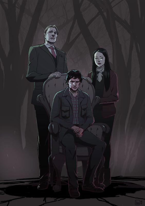 Hannibal - Hannibal Lecter x Will Graham & Abigail Hobbs