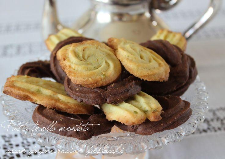 La cucina di zia Simonetta: Biscotti di pasta frolla montata profumati al peperoncino, cacao e pistacchi
