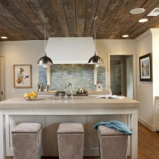 Reclaimed wood ceiling ideas for reclaimed wood in the for Wood ceiling kitchen ideas